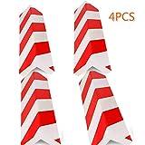 4 unidades Columnas Parking protector puerta garaje Esquina Parking Adhesivo Al Apagar Paragolpes Protector para La Puerta de Coche (40 * 15 * 2cm-4PC)