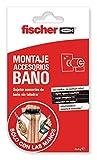 fischer 548836 accesorios de baño adhesivos, Transparente
