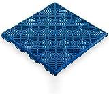 Antihumedades Losetas Suelo de terraza, Piscinas, remolques (30x30cm) Pack 48 uds Color a Elegir (Azul)