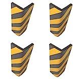 SNS SAFETY LTD Protector de Esquina Adhesivo, en Espuma Goma, para la Protección de las Columnas de Garaje y Aparcamientos, 44x25x2 cm, Negro Amarillo (4 piezas)