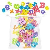 THE TWIDDLERS 100 Juguetes de Baño y bañera - Adecuados para Niños y Bebés - 26 Letras del Alfabeto en Espuma de Colores Brillantes Jugar y Aprender.