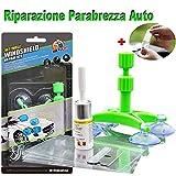 JTENG Kit de Reparación de Parabrisas,Windshield Repair Kit para Reparar Arañazos, Reparación de Grietas, de Blancos, Roturas, etc (+ Guantes Desechables) (+ Guantes)