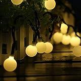 Guirnaldas Luces Exterior Solar Luces LED Navidad, 60LED 10M IP65 Impermeable 8 Modos Cadena de Luces Decoracion, Luces Solares LED Exterior Jardin para Navidad, Boda, Fiesta, Festival, Jardin