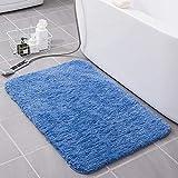 KELOFO Alfombra Baño, Antideslizante de Microfibra Alfombrilla Baño Lavable a Máquina Alfombrilla de Baño, 50 x 80 cm Azul