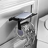 Portarollos papel higienico negro, baldas pared sin agujeros, Portarrollos para cocina y baño,acesorios cuartos de baño
