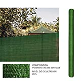 Comercial Candela Rollo de Malla de sombreado Verde 2x10 Metros
